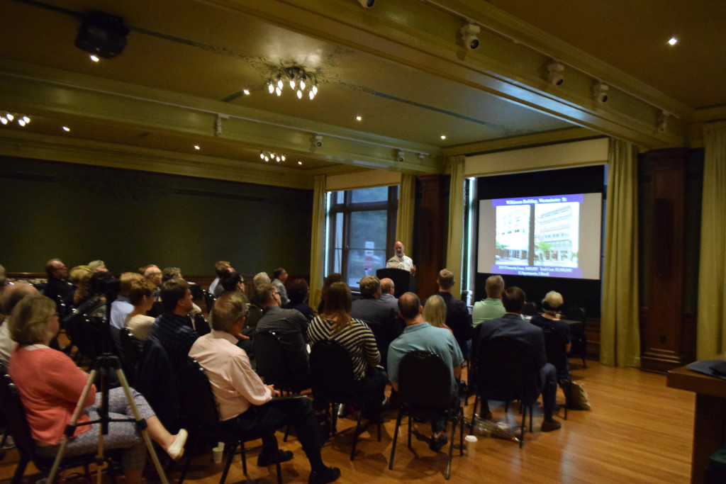 Public presentation of the recommendations at Memorial Hall