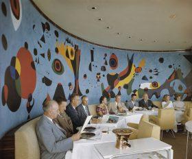 Terrace Plaza Hotel, Location: Cincinnati OH, Architect: Skidmore Owings & Merrill, Mural: Joan Miro