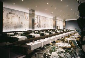 Terrace Plaza Hotel, Location: Cincinnati OH, Architect: Skidmore Owings & Merrill, Mural: Saul Steinberg